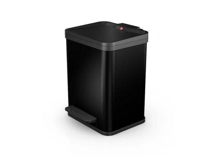 Odpadkový kôš Hailo na triedený odpad 2 × 9 litrov - čierny lak