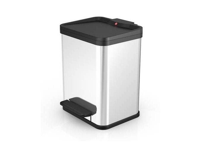 Odpadkový kôš Hailo na triedený odpad 2 × 9 litrov - nerezový