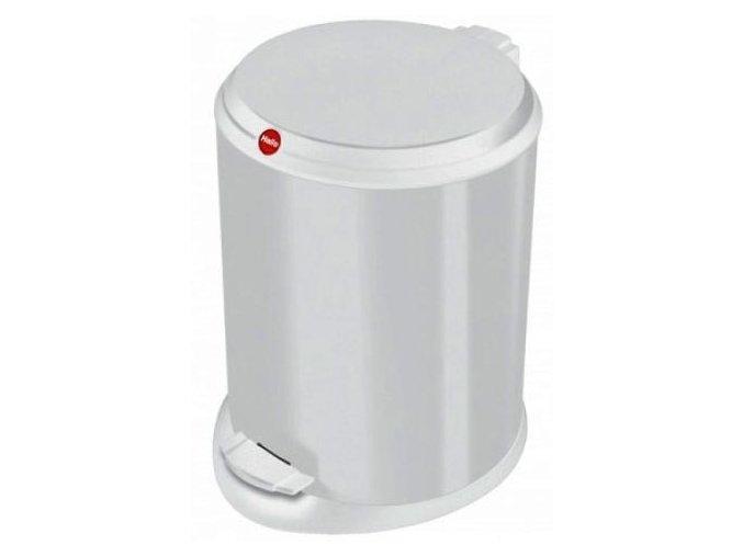 Odpadkový kôš Hailo nášľapnú 11 litrov, biely