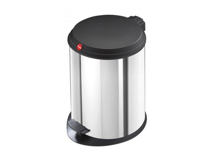 Odpadkový kôš Hailo nášľapnú 11 litrov, nerez-čierne