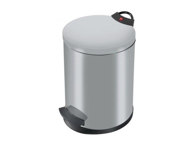 Odpadkový kôš Hailo nášľapnú 11 litrov, strieborný lak