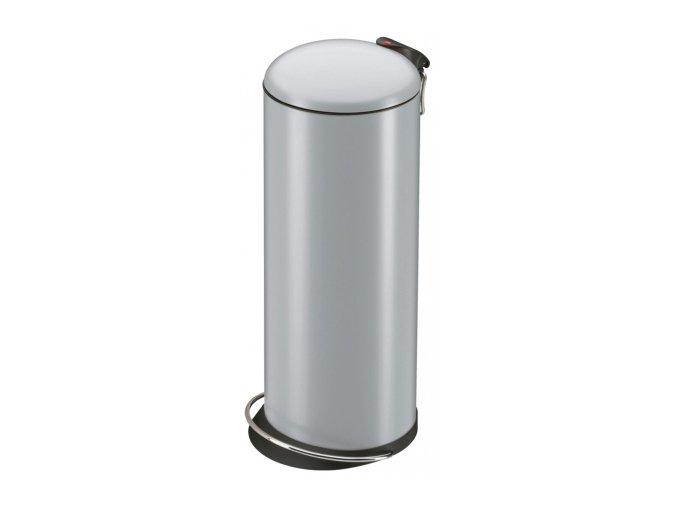 Odpadkový kôš Hailo nášľapnú 24 litrov, strieborný lak