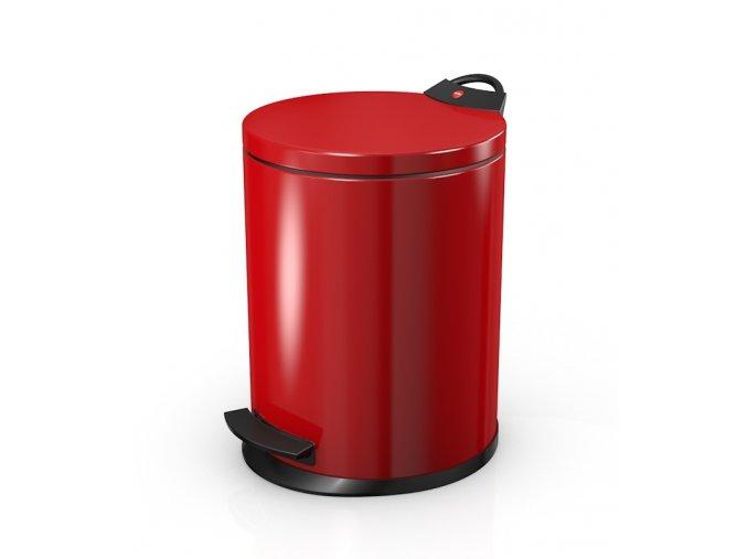 Odpadkový kôš Hailo nášľapný 11 litrov, červený lak