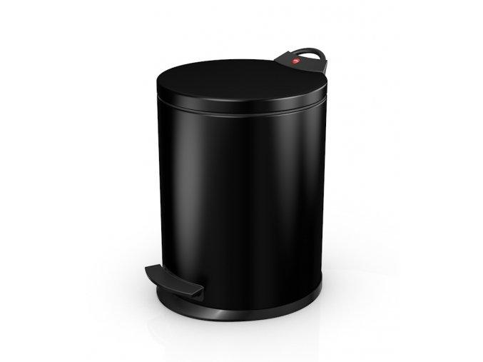Odpadkový kôš Hailo nášľapný 11 litrov, čierny lak