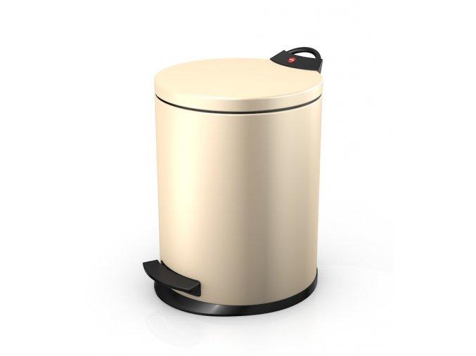 Odpadkový kôš Hailo nášľapný 11 litrov, vanilka