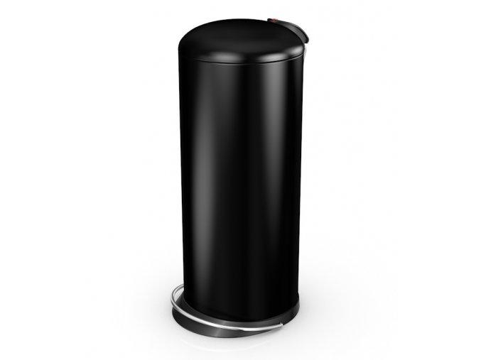 Odpadkový kôš Hailo nášľapný 24 litrov, čierny lak