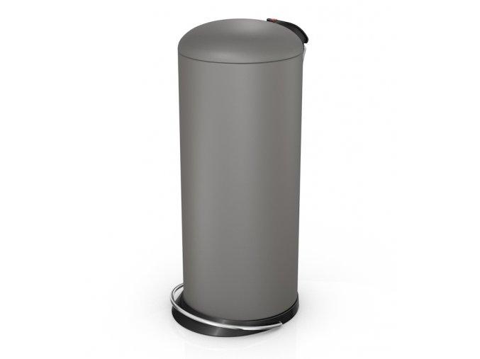 Odpadkový kôš Hailo nášľapný 24 litrov, šedý matný