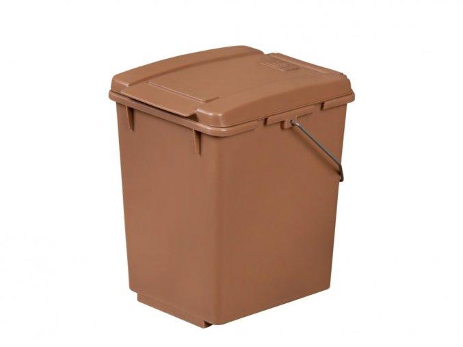 Odpadkový kôš na Triedenie, 10 litrov, hnedý