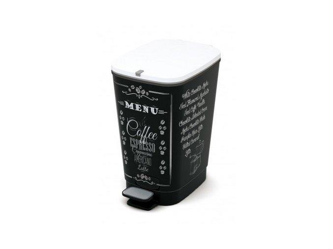 Odpadkový kôš nášľapný, dizajn caffe, 35 l