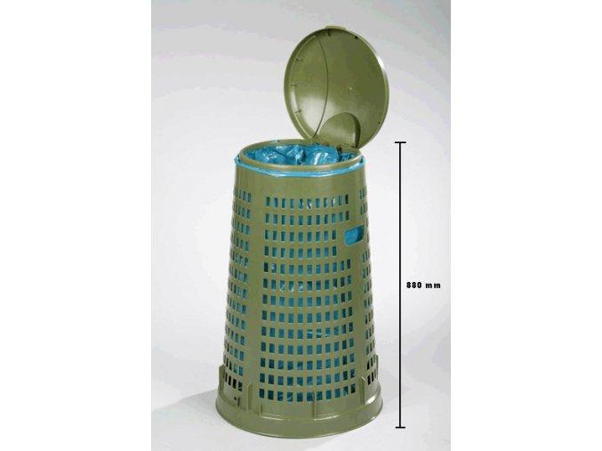 Odpadkový kôš plastový 120 l - lahko Stohovateľný