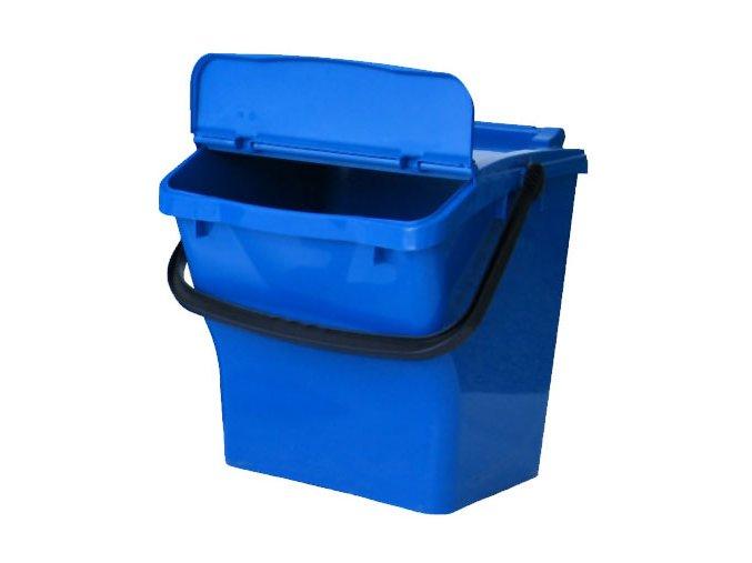 Odpadkový kôš plastový na triedený odpad - modrá