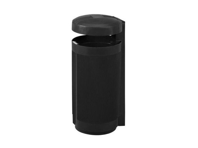 Odpadkový kôš vonkajšie 50 litrov čierny