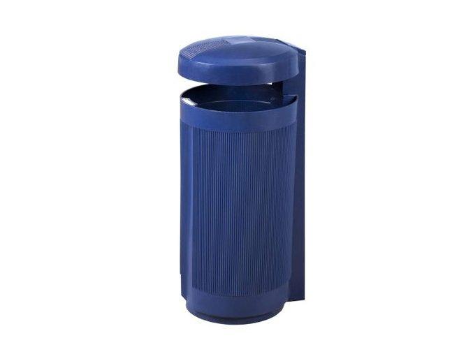 Odpadkový kôš vonkajšie 50 litrov modrý