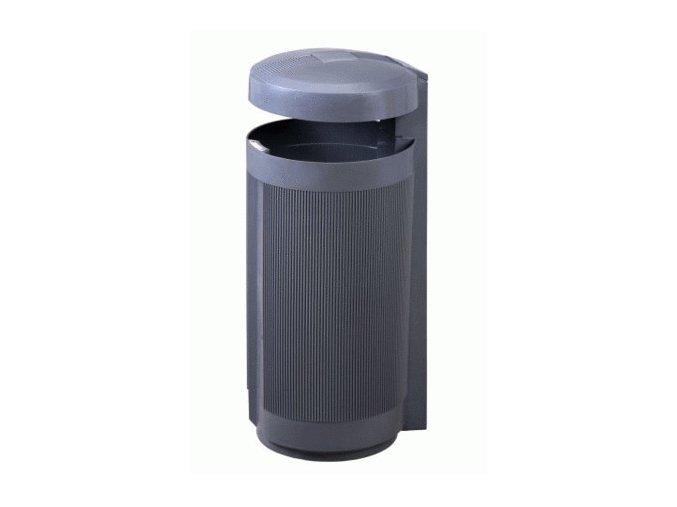 Odpadkový kôš vonkajšie 50 litrov, šedý