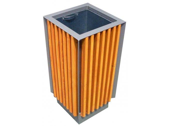 Odpadkový kôš vonkajšie drevený