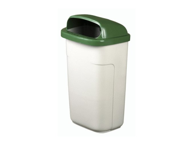 Odpadkový kôš vonkajšie klasický 50 litrov, sivá - zelená