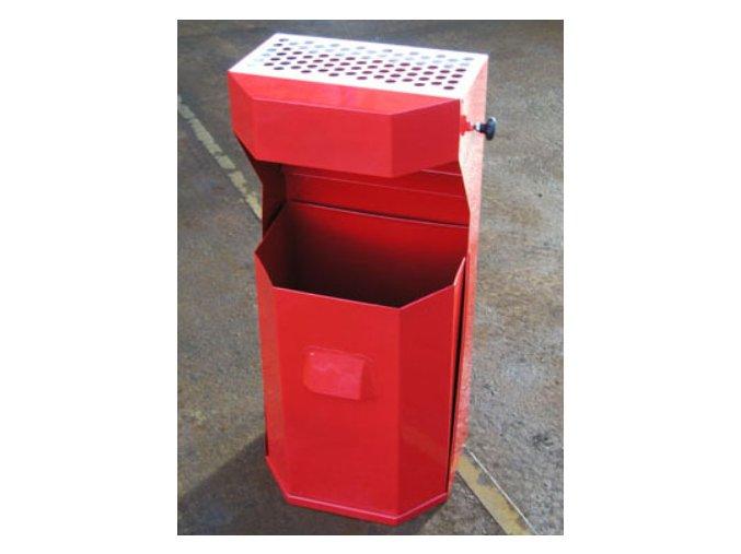 Odpadkový kôš vonkajšie, štandardné - červený
