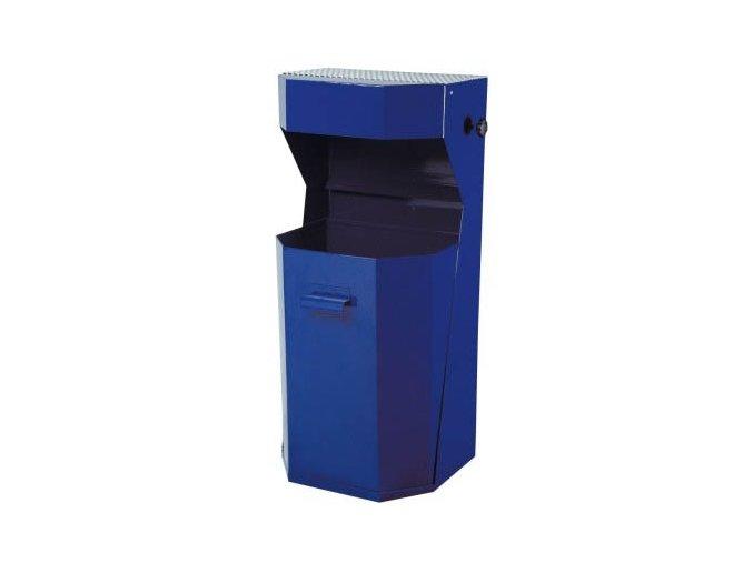 Odpadkový kôš vonkajšie, štandardné - modrý