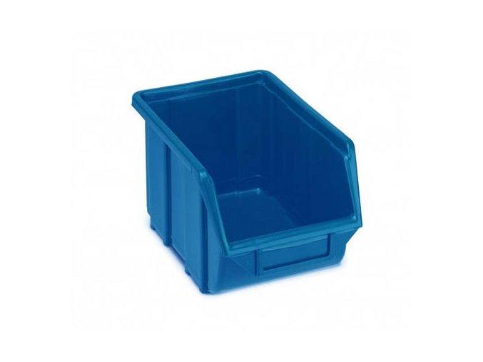 Plastová krabička 129 × 160 × 250, modrá, bal.j.30 ks