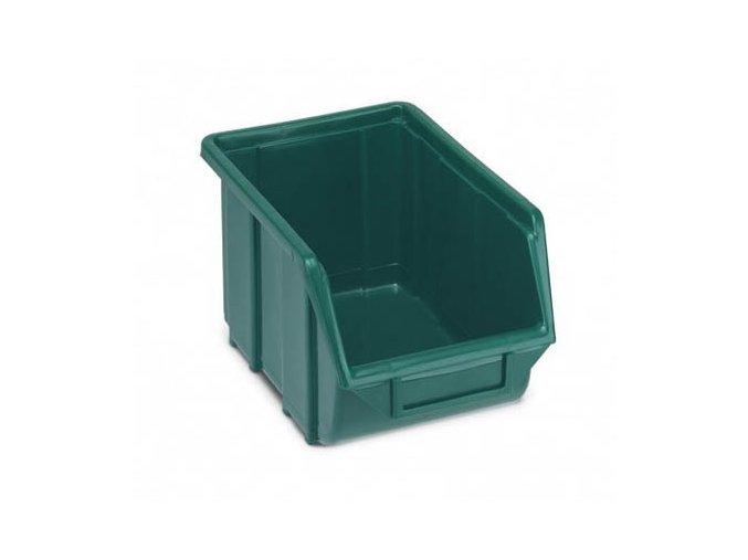 Plastová krabička 129 × 160 × 250, zelená, bal.j.30 ks