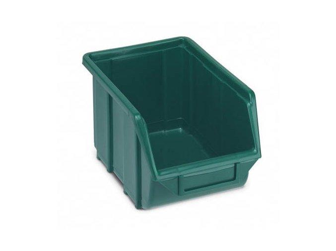 Plastová krabička 167 x 220 x 355, zelená, bal.j.10 ks