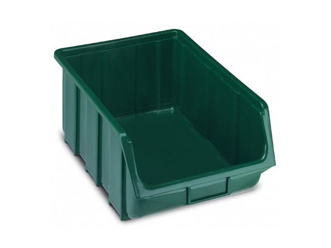 Plastová krabička 187 x 333 x 505, zelená, bal.j.4 ks