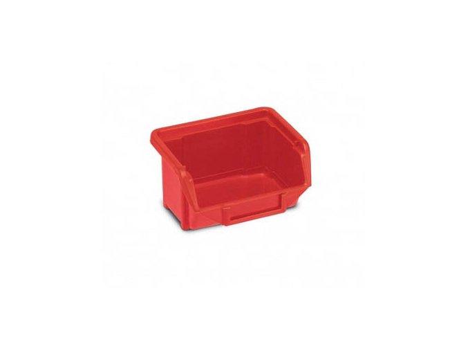 Plastová krabička 53 × 109 × 100, červená, bal.j.40 ks