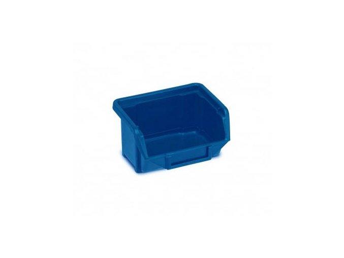 Plastová krabička 53 × 109 × 100, modrá, bal.j.40 ks