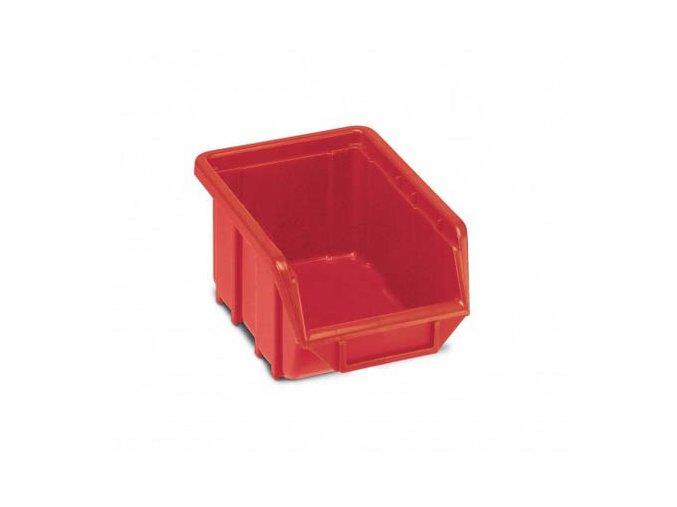 Plastová krabička 76 × 111 × 168, červená, bal.j.60 ks