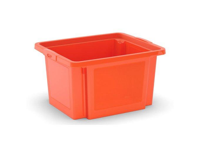 Plastová prepravka, 23 l, oranžová
