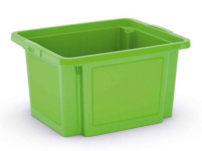 Plastová prepravka, 23 l, zelená