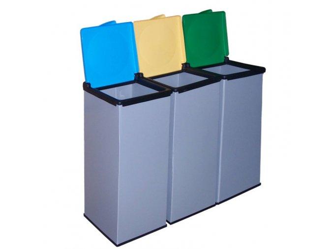 Plastový Economy set košov na triedený odpad, 3 x 90 l