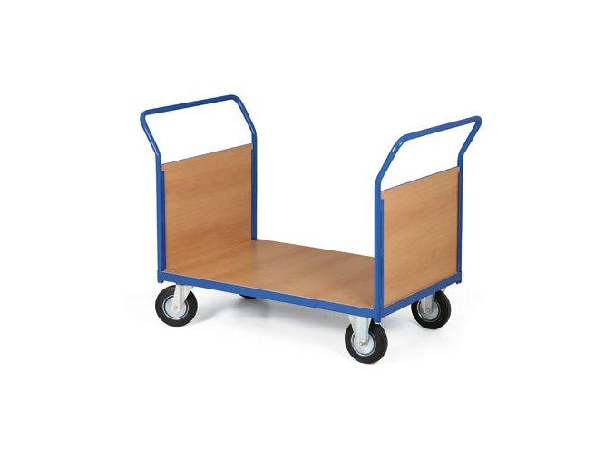 Plošinový vozík, dve madlá plné, 300 kg