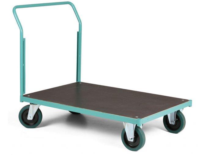 Plošinový vozík, jedno madlo, 1000 kg
