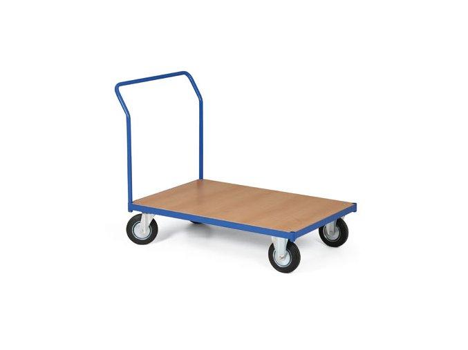 Plošinový vozík, jedno madlo, 200 kg, kolesá 125 mm