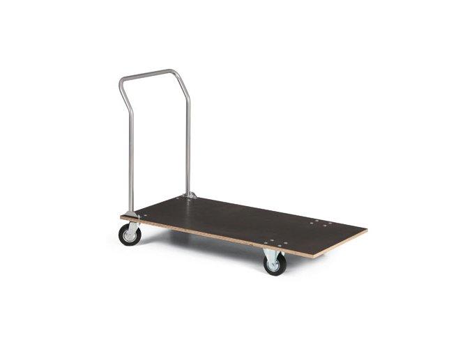 Plošinový vozík, vodeodolná preglejka, 150 kg