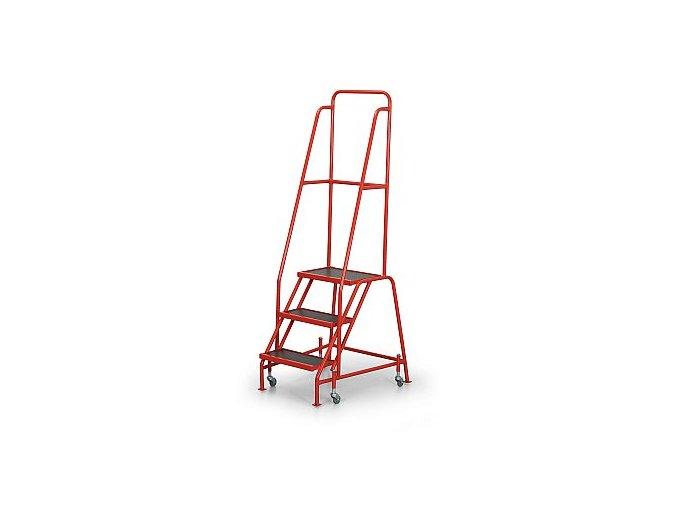 Pojazdný rebrík s plošinou, 3 stupne