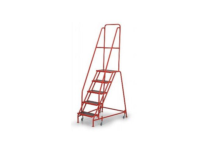 Pojazdný rebrík s plošinou, 5 stupňov