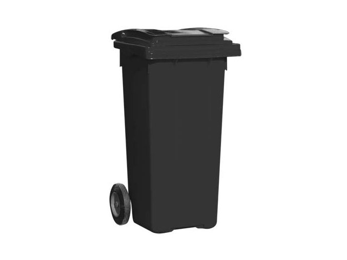 Popolnice 240 litrov čierna