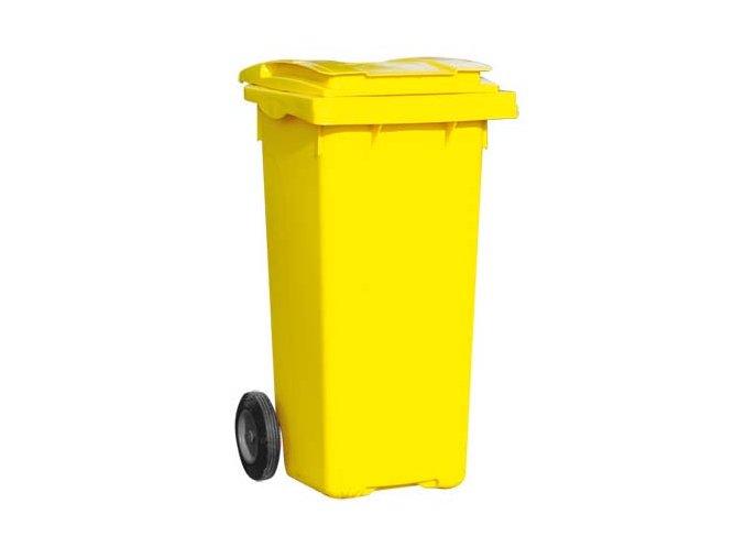 Popolnice 240 litrov žltá