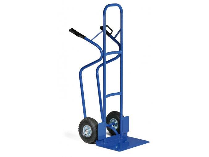 Rudla so spevnenou vysokou konštrukciou, 250 kg, dušové kolesá