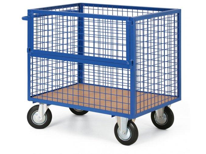 Skriňový vozík drôtený bez veka