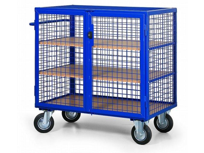 Skriňový vozík drôtený strednej
