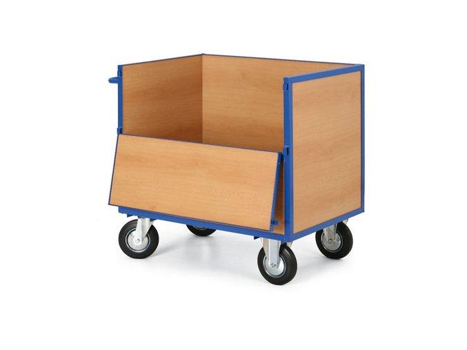 Skriňový vozík plný bez veka