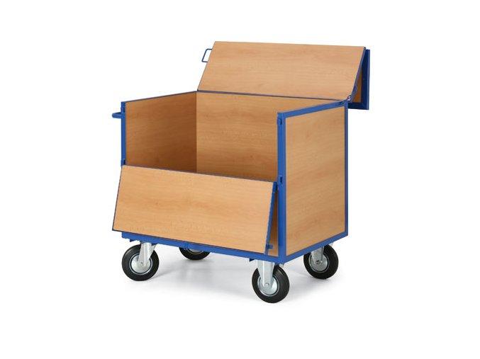 Skriňový vozík plný s vekom