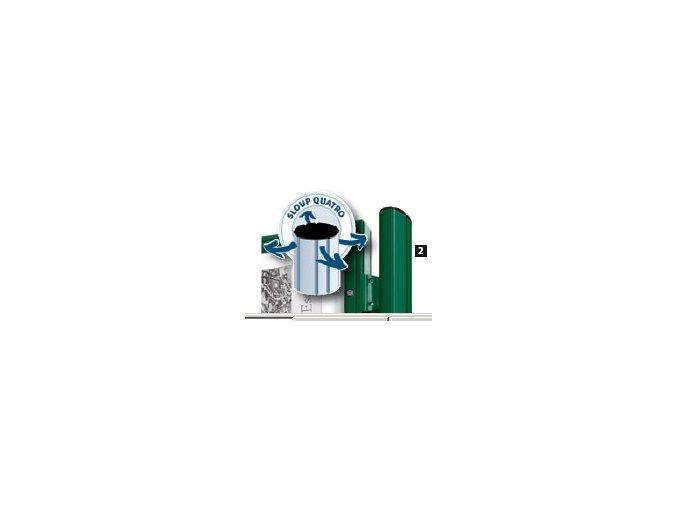 Stĺpik na zostavenie k vitrínam hĺbky 75 mm a 150 mm