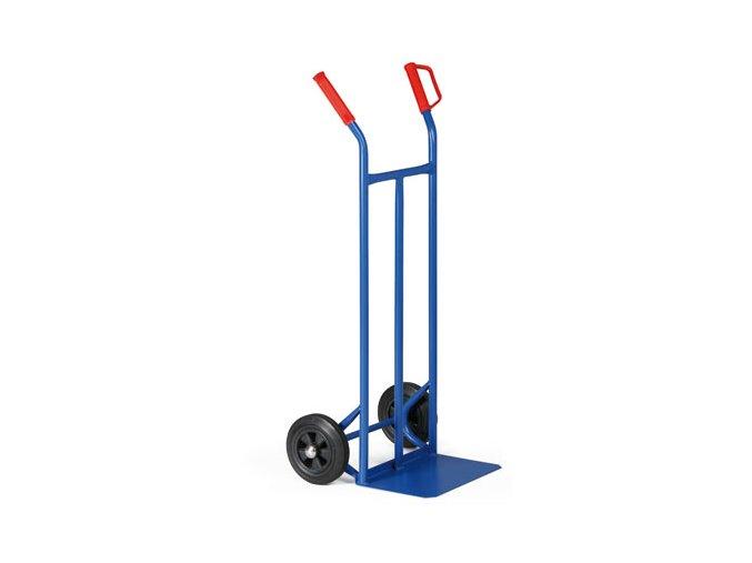 Stohovacie oceľový rudla, 200 kg, plné kolesá, rukoväte