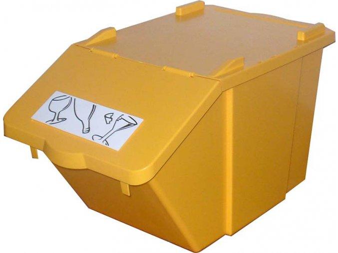 Stohovateľný nádoba na triedený odpad - žltá
