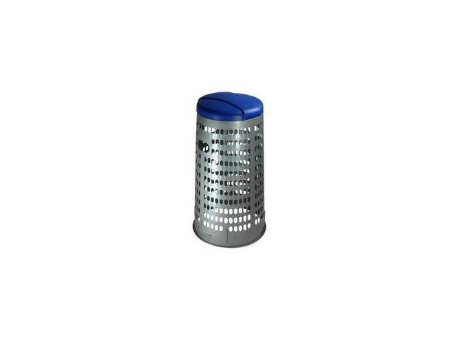 Stojan ECO na odpadkové vrecia s vekom, 120 litrov, modrý