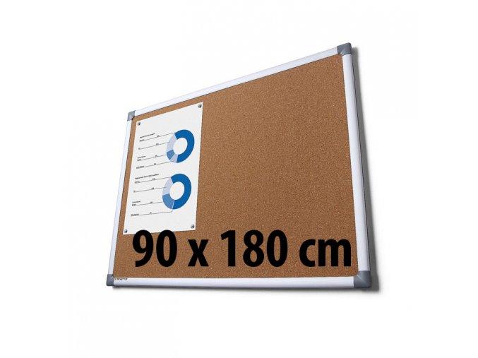 Tabuľa korková, 90 x 180 cm